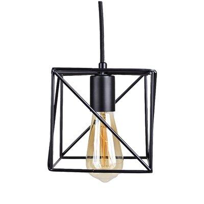 Cirebon Square Modern Industrial Cage 1-Light Mini Pendant