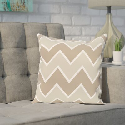 Segal Chervon Throw Pillow Size: 16 H x 16 W, Color: Taupe / Taupe