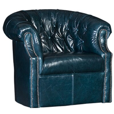 Cuellar Swivel Barrel Chair Upholstery: Monte Cristo Peacock Solid