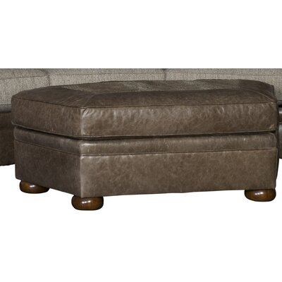 Bedingfield Leather Cocktail Ottoman Upholstery: Nine Bunker