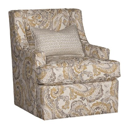 Cuadra Swivel Club Chair Upholstery: Polyester McCandliss Buttercup Damask