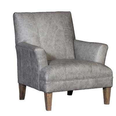 Marcell Club Chair Upholstery: Omaha Fossil, Finish: Whitewash