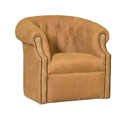 Cuellar Swivel Barrel Chair Upholstery: InsideOut Pecan Solid