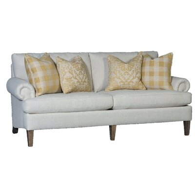 Citlali Sofa Upholstery: Namste Flax, Finish: Walnut