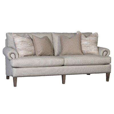 Citlali Sofa Upholstery: Malibu Silver, Finish: Walnut