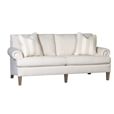 Citlali Sofa Upholstery: Dixon Linen, Finish: Walnut