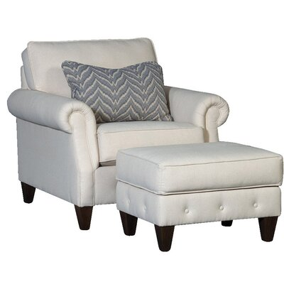 Citium Club Chair and Ottoman Upholstery: Cotton Dixon Oatmeal