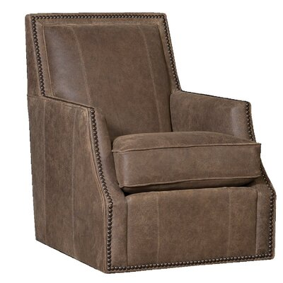 Cruse Swivel Club Chair Upholstery: InsideOut sigaro