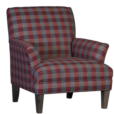 Marcell Club Chair Upholstery: Polyester Dabney Serape Plaid, Finish: Driftwood