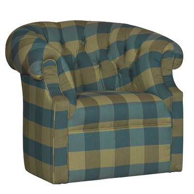 Cuellar Swivel Barrel Chair Upholstery: Lily Emerland Plaid