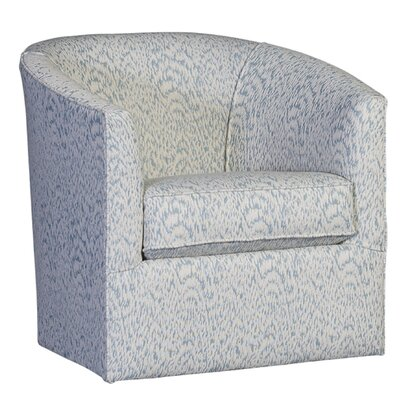 Tompson Swivel Barrel Chair Upholstery: Cotton Kipps Bay Water