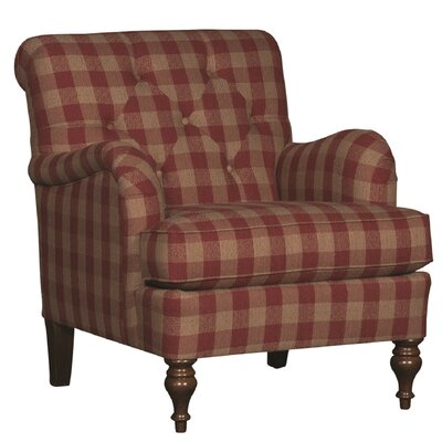 Culbreth Club Chair Upholstery: Buffalo Check Red Plaid, Finish: Walnut