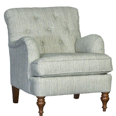 Culbreth Club Chair Upholstery: Accolade Serene Solid, Finish: Walnut