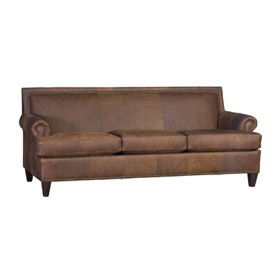 Marcello Sofa Upholstery: Market Whiskey, Finish: Walnut