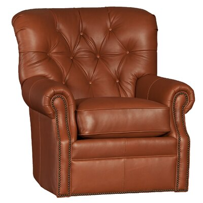 Cumbie Wood Swivel Club Chair Upholstery: Edinburg Cocoa