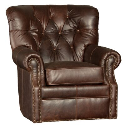 Cumbie Wood Swivel Club Chair Upholstery: Fargo Chocolate