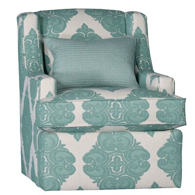 Cuadra Swivel Club Chair Upholstery: Cotton Cotillion Pool Ikat