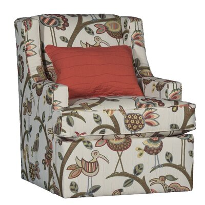 Cuadra Swivel Club Chair Upholstery: Rayon Crazy Ol Bird Floral