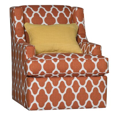 Cuadra Swivel Club Chair Upholstery: Polyester Strathmore Cayenne Geometric