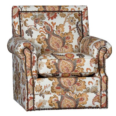 Huckabee Swivel Club Chair Upholstery: Ambra Clay Floral