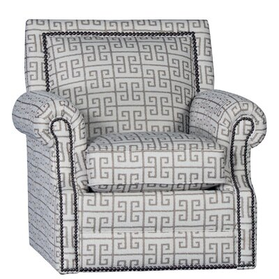 Huckabee Swivel Club Chair Upholstery: Apollonia Latte Geometric