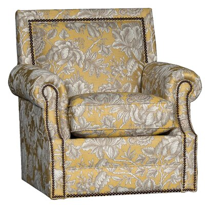 Huckabee Swivel Club Chair Upholstery: Rowena Lemon Floral