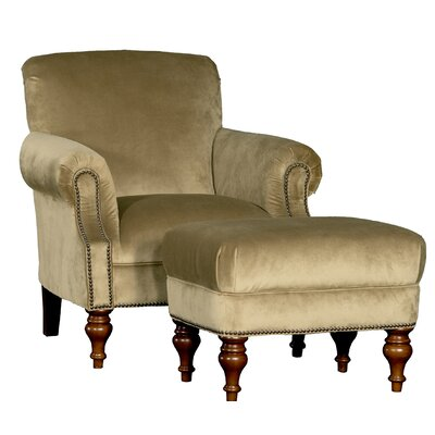 Crutchfield Club Chair and Ottoman