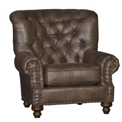 Cueto Club Chair Upholstery: Vagabond Elk Solid, Finish: Espresso