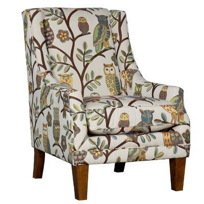 Cuetomar Wingback Chair Upholstery: Polyester Wise Guy Autumn Floral