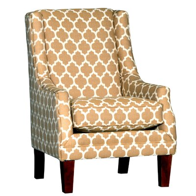 Cuetomar Wingback Chair Upholstery: Cotton Dash Honey Geometric