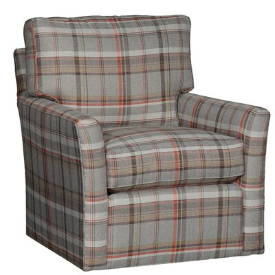Cueva Swivel Club Chair Upholstery: Polyester Chesterton Taupe Plaid