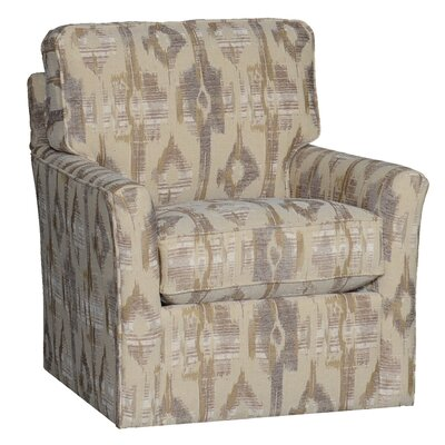 Cueva Swivel Club Chair Upholstery: Polyester Bridge Desert Ikat