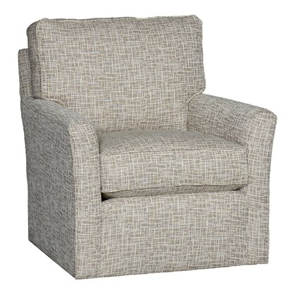 Cueva Swivel Club Chair Upholstery: Cotton Trelor Putty Solid