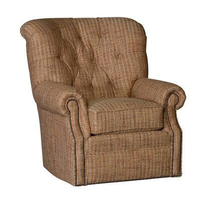 Pelaez Wood Swivel Club Chair