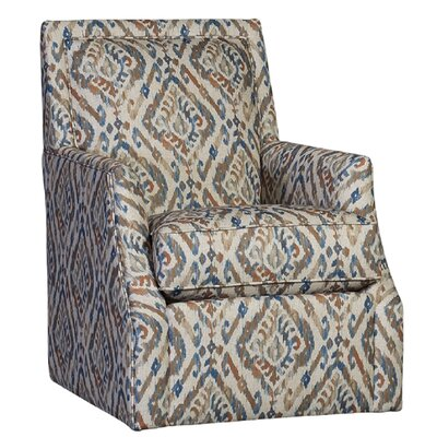 Cruse Swivel Club Chair Upholstery: Polyester Cantabria Persian Ikat