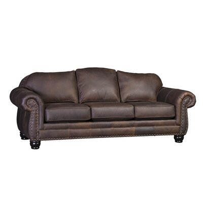Bedford Sofa Upholstery: Bomber Brown, Finish: Black