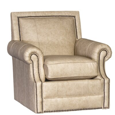 Huckabee Swivel Club Chair Upholstery: Omaha French Vanilla Plaid