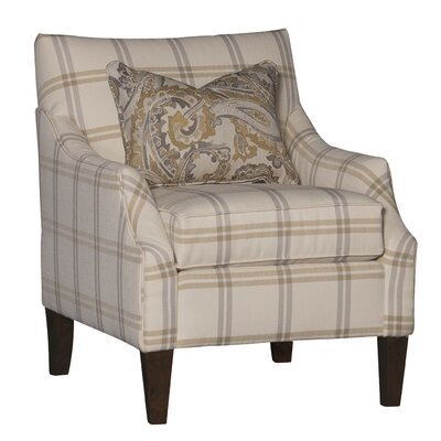Durso Club Chair Upholstery: Eastend Lemongrass Plaid