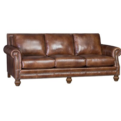 Hudak Sofa Upholstery: Hairloom Chimera, Finish: Walnut