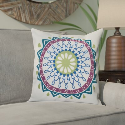 Meetinghouse Mod Geometric Outdoor Throw Pillow Size: 20 H x 20 W, Color: Teal