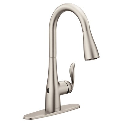 Arbor Pull Down Touchless Single Handle Kitchen Faucet Finish: Spot Resist Stainless
