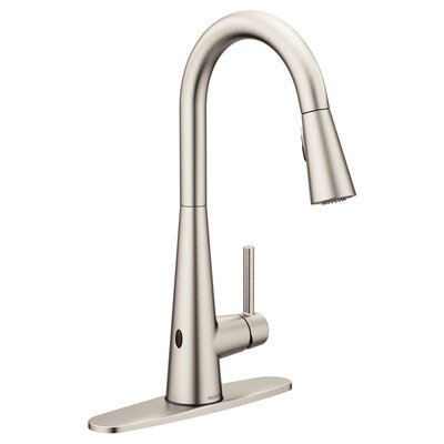 Sleek Pull Down Touchless Single Handle Kitchen Faucet Finish: Spot Resist Stainless