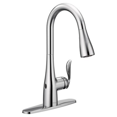 Arbor Pull Down Touchless Single Handle Kitchen Faucet Finish: Chrome