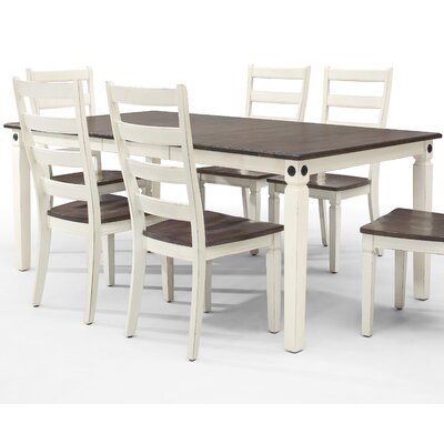 Marchan Extendable Dining Table Color: White