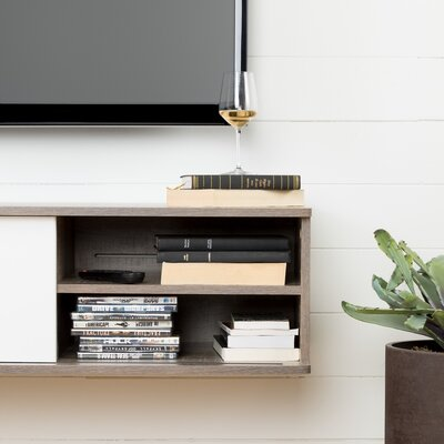 Agora 56 TV Stand Color: Weathered oak and pure white