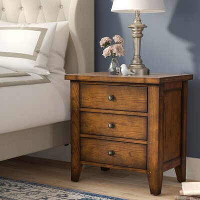 Beamond 3 Drawer Nightstand
