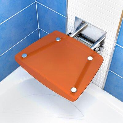 Square Fold-Up Shower Chair Color: Orange