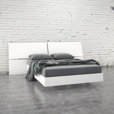 Kucera Platform Bed Size: Full, Color: White