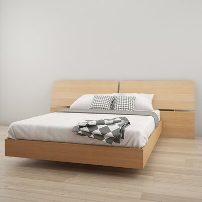Kucera Platform Bed Size: Queen, Color: Natural Maple