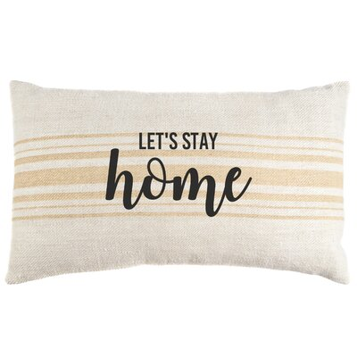 Let's Stay Home Vintage Lumbar Pillow
